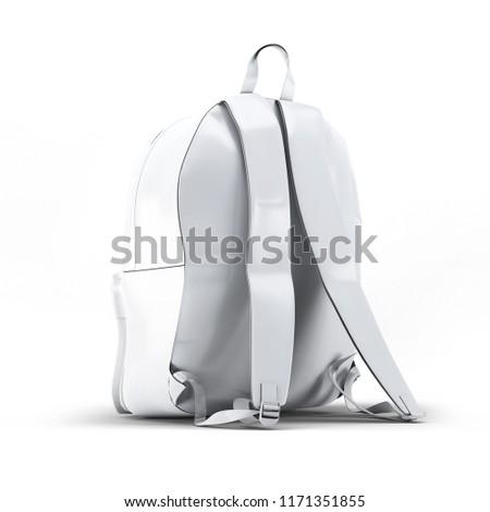 School Backpacks Mockup 3D illustration