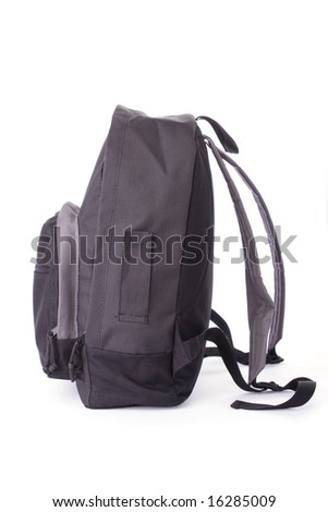School bag isolated on a white background