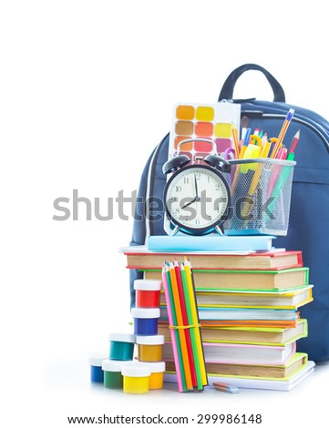 School bag with things for school #299986148