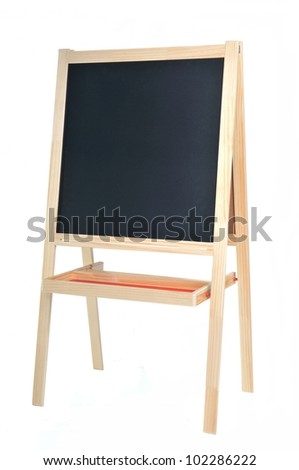 School board, isolated on white background - stock photo