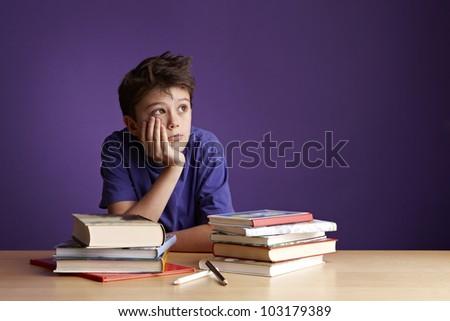 School Boy Dreaming Looking Away