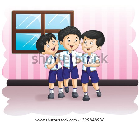 school boys smiling