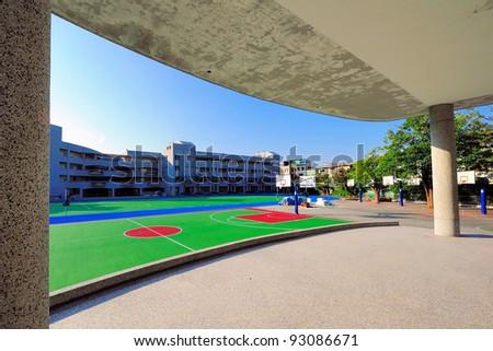 school building in playground
