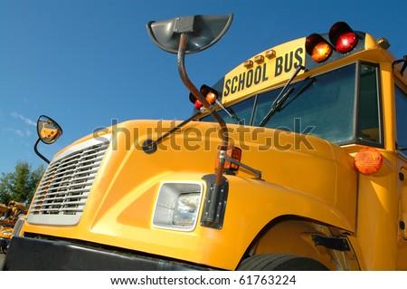 School Bus - Close Up - Blue Sky