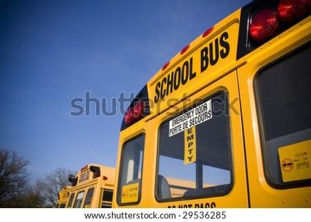 School bus from behind