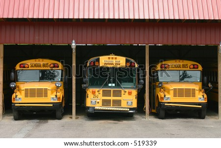 School bus garage.