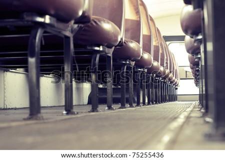 school bus interior