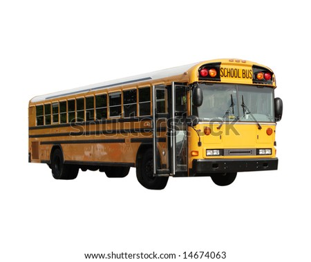School bus isolated on white