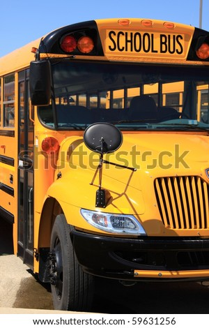 School bus on the parking lot