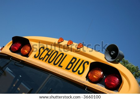School bus ready for back to school