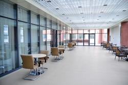 School corridor, photographed in a private primary school