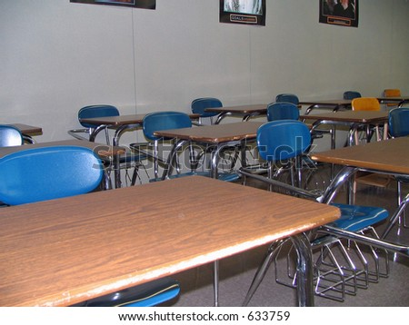 School Desks - stock photo