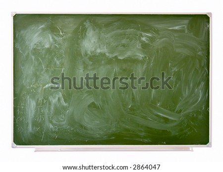 School green blackboard. Isolated on white with shadow to separate from background.