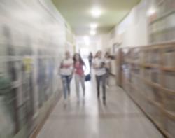 School Hallway-blurred