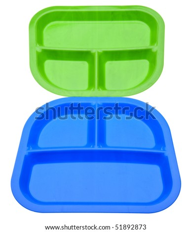 School Lunch Themed Image.  Pair of Lunch Trays.
