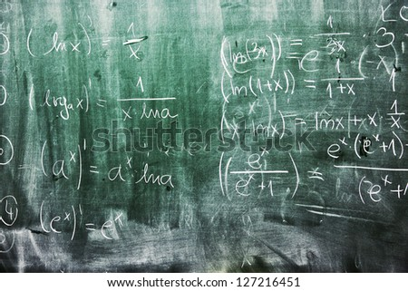 School math blackboard background grunge. - stock photo