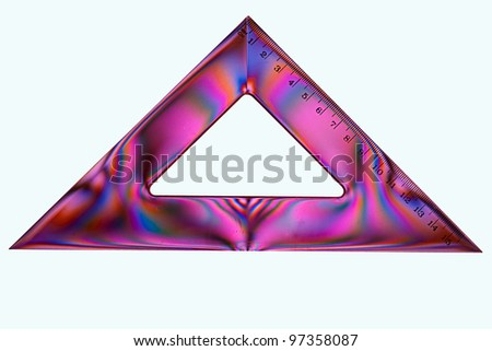 School maths triangle isolated - geometry, set square