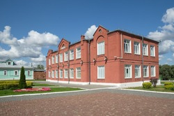 School on the Cathedral square in Kolomna, Russia. The building was built in 1865