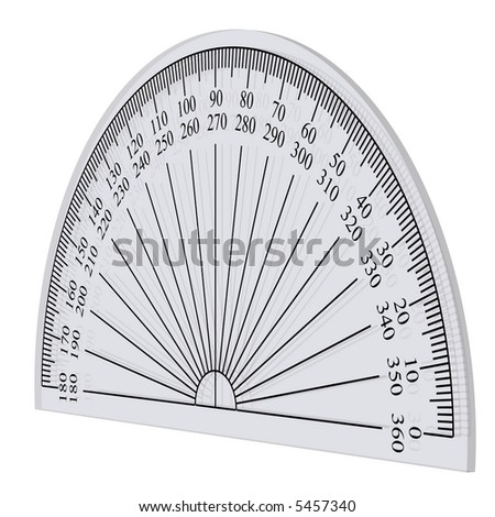 school protractor isolated on white