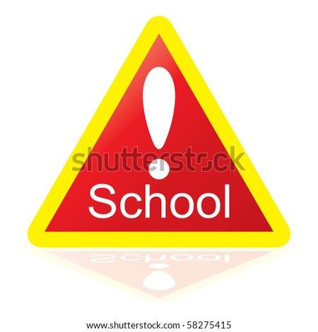School Sign - stock photo