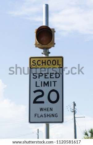 School speed limit #1120581617