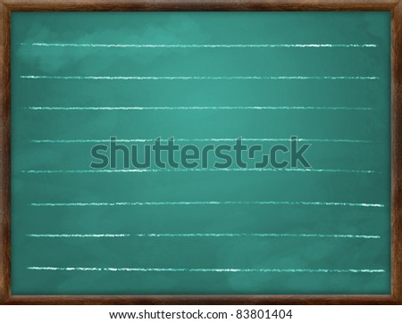 School table with lines