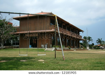 School - Taketomi Island , Okinawa, Japan