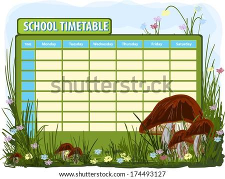 School Timetables to Print School Timetable Print