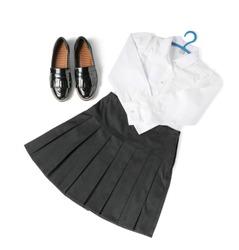 School uniform on white background