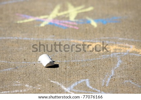 school yard sidewalk chalk drawings