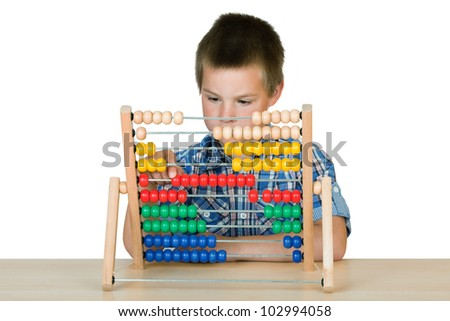 schoolboy with an abacus