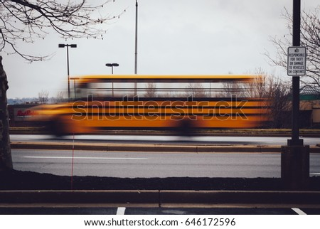 Schoolbus in Motion, Capture the motion #646172596