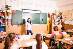 Schoolchildren in the classroom