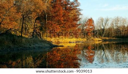 Schulze Lake in Lebanon Hills Park of Eagan Minnesota