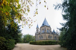 Schwarzenberg tomb from 18th century. Tomb is famous tourist attraction near Trebon, South Bohemia. Historical landmark in Czech republic, European union. gothic style