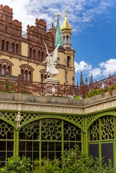Schwerin Palace, greenhouse, Orangerie, garden, Sculpture, in the city of Schwerin, capital of the state of Mecklenburg-Vorpommern, Germany.