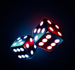 Sci-fi dice with cool lightning