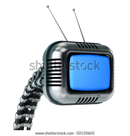 Sci-fi tv in retro style (HQ 3d render)