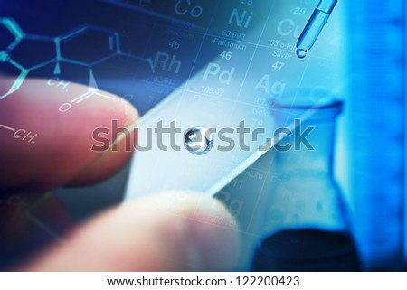 Science background with chemical or medicine theme.