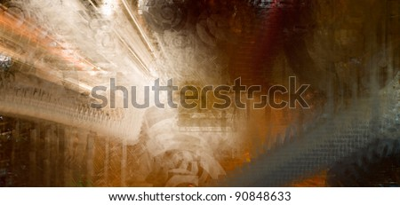science fiction abstract bacground with efects - stock photo