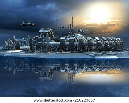 stock-photo-science-fiction-cityscape-with-metallic-structures-marina-and-hoovering-aircrafts-for-futuristic-210223657.jpg