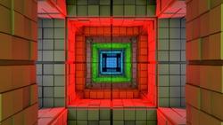 Science Fiction Minimalist Cube Maze Modern Fantasy