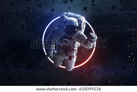 Science fiction space wallpaper, incredibly beautiful planets, galaxies, dark and cold beauty of endless universe. Elements of this image furnished by NASA #650099236