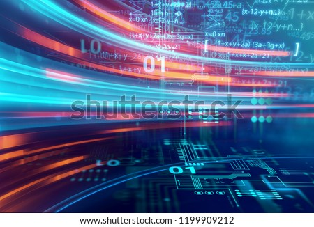 science formula and math equation abstract background. concept of machine learning and artificial intelligence.