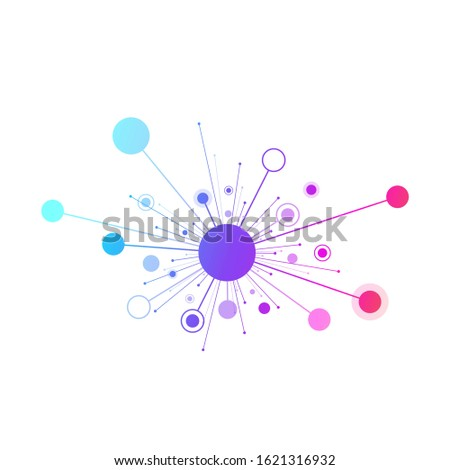 Science genetics logo, molecule, DNA helix. Genetic analysis, research biotech code DNA. Biotechnology genome chromosome. illustration