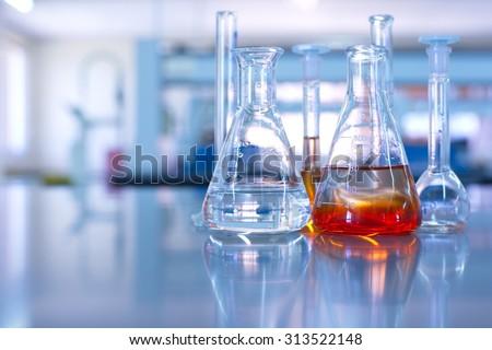 science laboratory flask...