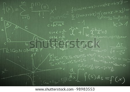 Science Mathematics Physics Illustration - stock photo