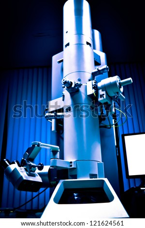 science modern laboratory equipment electron microscope