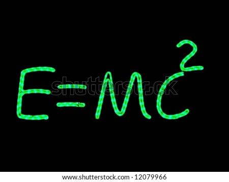 Science neon quoting Einstein equation