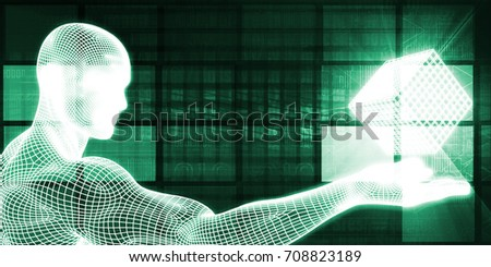 Science Research Concept as an Abstract Background 3D Illustration Render